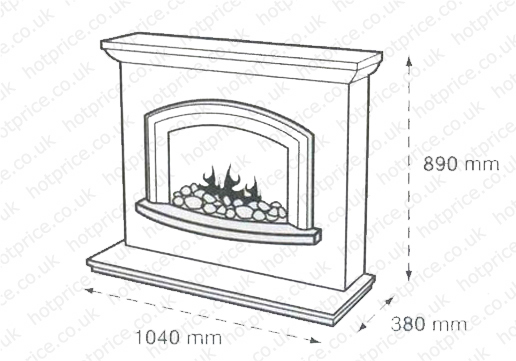Flamerite Fires Mercia Electric Fireplace Suite