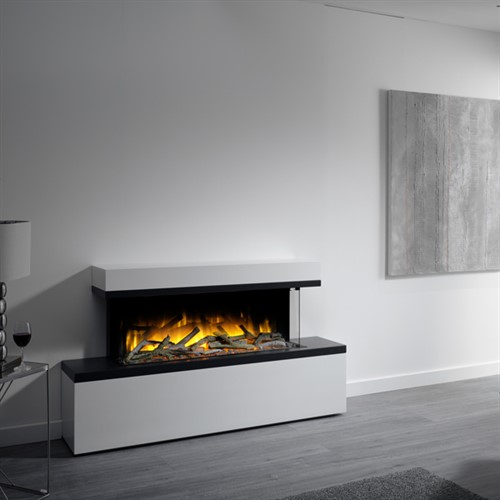 Flamerite Fires Glazer 1000 3 Sided Electric Fire With