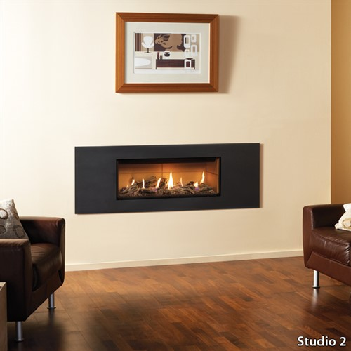 Gazco Studio Steel Wall Mounted Gas Fire (Balanced Flue)