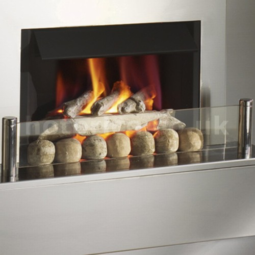 Crystal Fires Saphire Hole-in-the-Wall Gas Fireplace