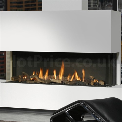 Three-Sided Fireplace from Seventh Avenue ®