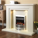 Pureglow Hanley Marble Fireplace Suite with Electric Fire