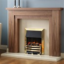 Pureglow Hanley Fireplace Suite with Standard Electric Fire (Walnut)