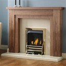 Pureglow Hanley Fireplace Suite with Gas Fire (Walnut)