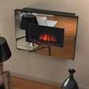 Flamerite Fires Corello 2 Wall Mounted LED Electric Fire - Silver Mirror