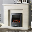 Pureglow Drayton Limestone Fireplace Suite with Electric Fire