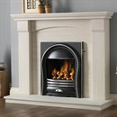 Pureglow Kingsford Limestone Fireplace Suite with Gas Fire