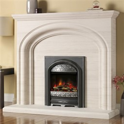 Pureglow Wychbury Limestone Fireplace Suite with Electric Fire