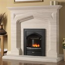 Pureglow Harvington Limestone Fireplace Suite with Electric Fire