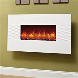 Be Modern Orlando Wall Mounted Electric Fire - Gloss White ...