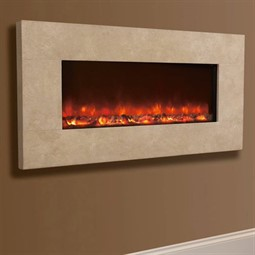 Celsi Electriflame XD Hang-on-the-Wall Electric Fire - Travertine