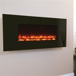 Celsi Electriflame XD Hang-on-the-Wall Electric Fire - Black Glass