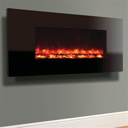 Celsi Electriflame XD Hang-on-the-Wall Electric Fire - Piano Black