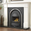 Cast Tec Flat Victorian Limestone or Granite Fireplace