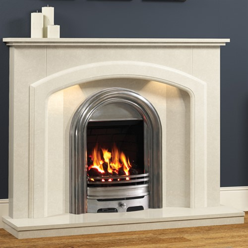 Be Modern Andorra Marble Fireplace Suite