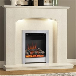 Be Modern Viola Marble Fireplace Suite