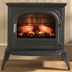 Eko Fires 1250 Cast Iron LED Electric Stove - Black