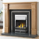 Cast Tec York Solid Oak Fireplace