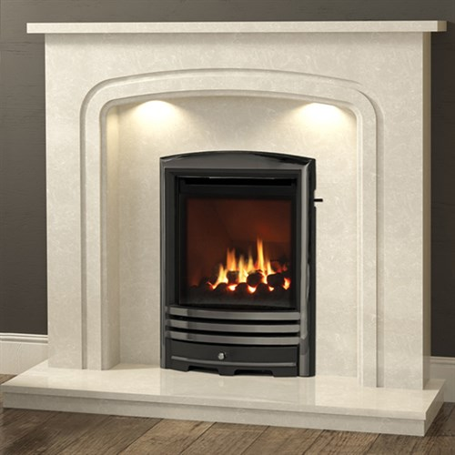 Be Modern Mirandola Marble Fireplace Suite