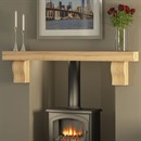 Be Modern Celia Fireplace Beam in Solid Oak