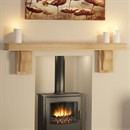Be Modern Briella Fireplace Beam in Solid Oak