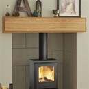Be Modern Mayley Fireplace Beam in Solid Oak