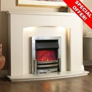 Pureglow Abberley Marble Fireplace Suite - SPECIAL OFFER