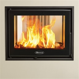 Dovre zen 102 double sided wood burning cassette fire for Double sided fireplace price