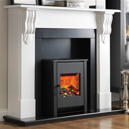 Flamerite Fires Corbel with Atom Stove Electric Fireplace Suite