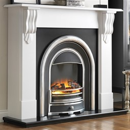 Flamerite Fires Corbel with Tennyson Cast Electric Fireplace Suite