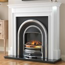 Flamerite Fires Aubade with Tennyson Cast Electric Fireplace Suite