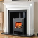 Flamerite Fires Aubade with Atom Stove Electric Fireplace Suite