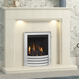 Be Modern Madalyn Marble Fireplace Suite