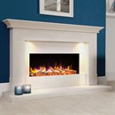 Celsi Ultiflame VR Parada Elite Illumia Limestone Electric Fireplace Suite