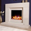 Celsi Ultiflame VR Rennes Limestone Electric Fireplace Suite