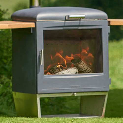 Chesneys Heat Garden Party Wood Burning Barbecue / Outdoor Stove Heater
