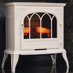 Eko Fires 1250 Cast Iron LED Electric Stove - White