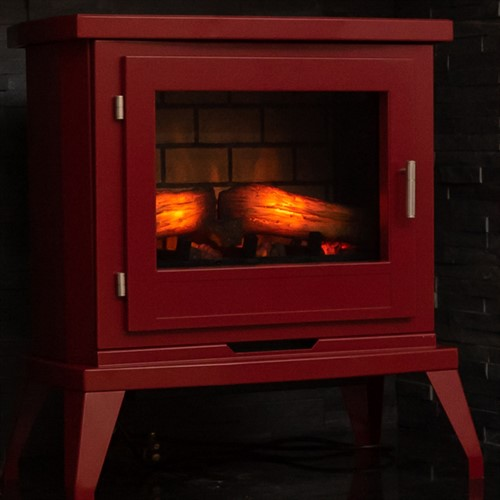 Eko Fires 1350 LED Electric Stove - Burgundy