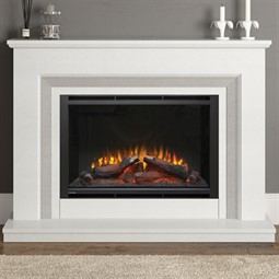 Elgin & Hall Cassius Marble Electric Fireplace Suite
