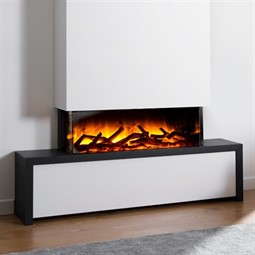 Flamerite Fires Glazer 900 3-Sided Electric Fire with Strato Suite