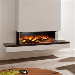 Flamerite Fires Glazer 900 3-Sided Electric Fire with Exo Suite