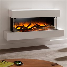 Flamerite Fires Glazer 900 3-Sided Electric Fire with Iona Suite