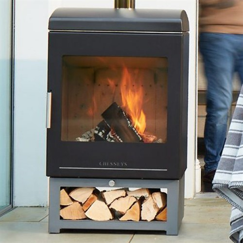Chesneys Heat Clean Burn Wood Burning Outdoor Stove Heater