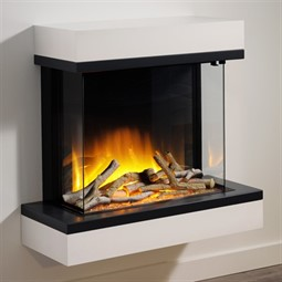 Flamerite Fires Glazer 600 3-Sided Electric Fire with Exo Suite