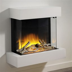 Flamerite Fires Glazer 600 3-Sided Electric Fire with Iona Suite