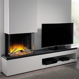 Flamerite Fires Glazer 600 3-Sided Electric Fire with Tropo Suite