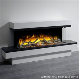 Flamerite Fires Glazer 1000 3-Sided Electric Fire with Exo Suite