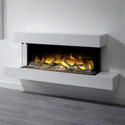 Flamerite Fires Glazer 1000 3-Sided Electric Fire with Iona Suite