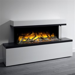 Flamerite Fires Glazer 1000 3-Sided Electric Fire with Tropo Suite