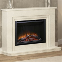 Elgin & Hall Wayland Marble Electric Fireplace Suite